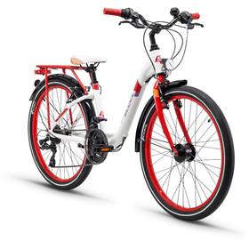 s'cool chiX 24 21-S Childrens Bike alloy red/white